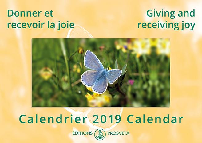 Calendar 2019: 'Giving and receiving joy'